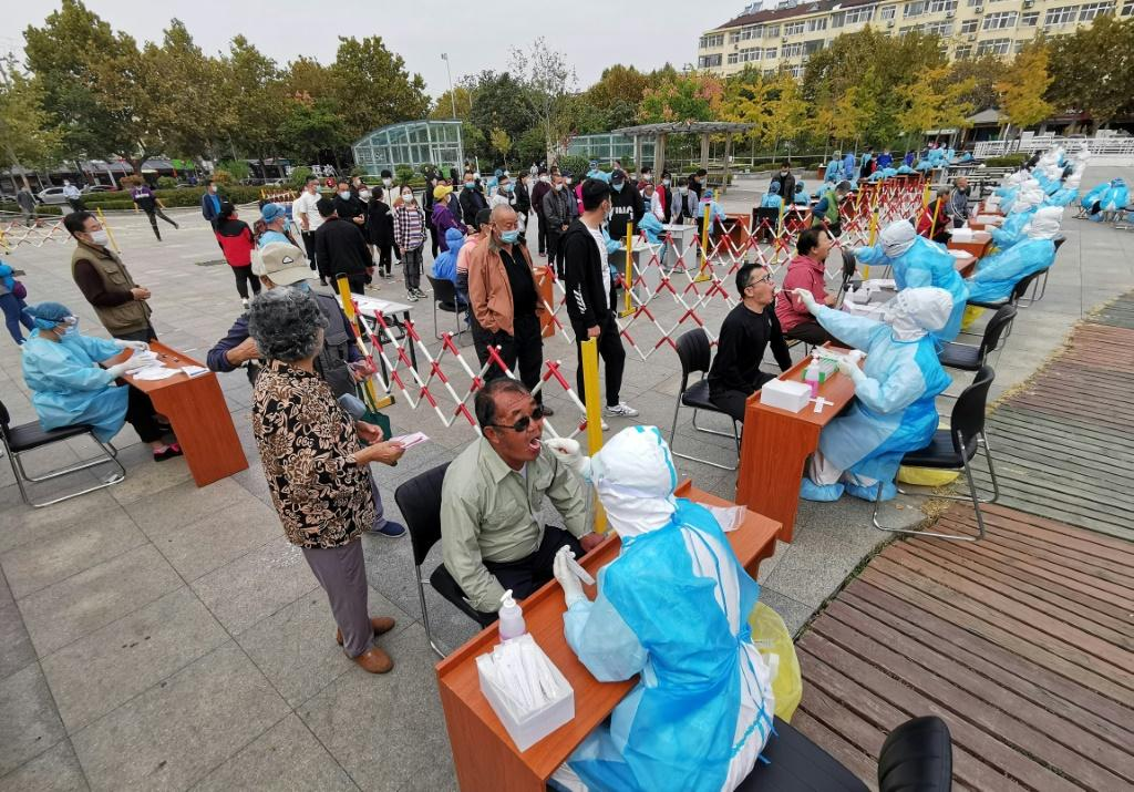 More than four million samples had been collected as of Tuesday in the Chinese city of Qingdao