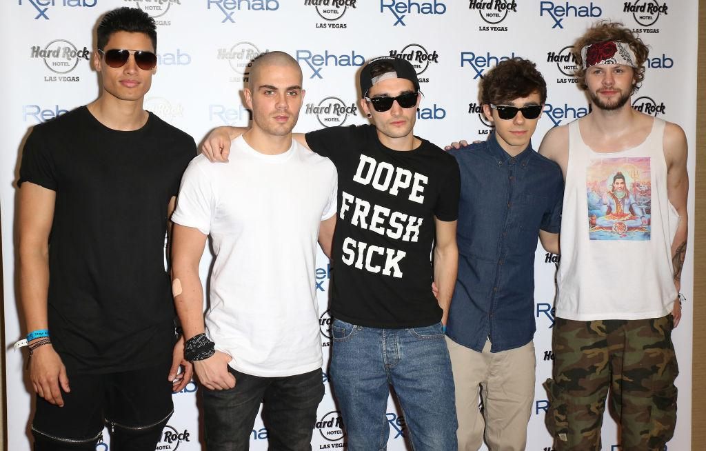 Siva Kaneswaran Max George Tom Parker Nathan Sykes and Jay Mc Guiness of The Wanted