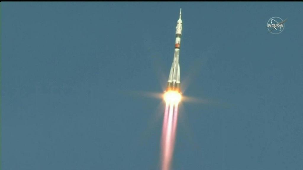 IMAGESRussia's Soyuz MS-17 spacecraft with two cosmonauts and a NASA astronaut on board blasts off to the International Space Station from the Russian-operated Baikonur cosmodrome in Kazakhstan. It is the first such launch since SpaceX's game-changing deb