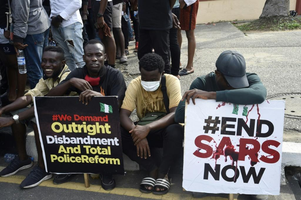 """The hashtag """"EndSARS"""" has been one of several used to galvanise support online"""