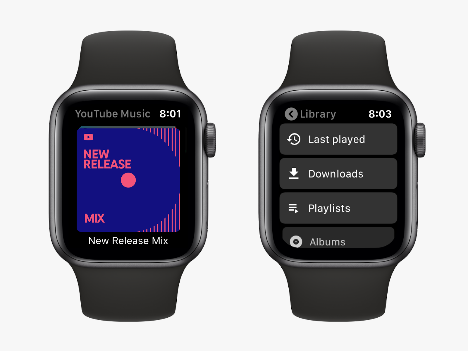 Apple Watch YouTube Music app