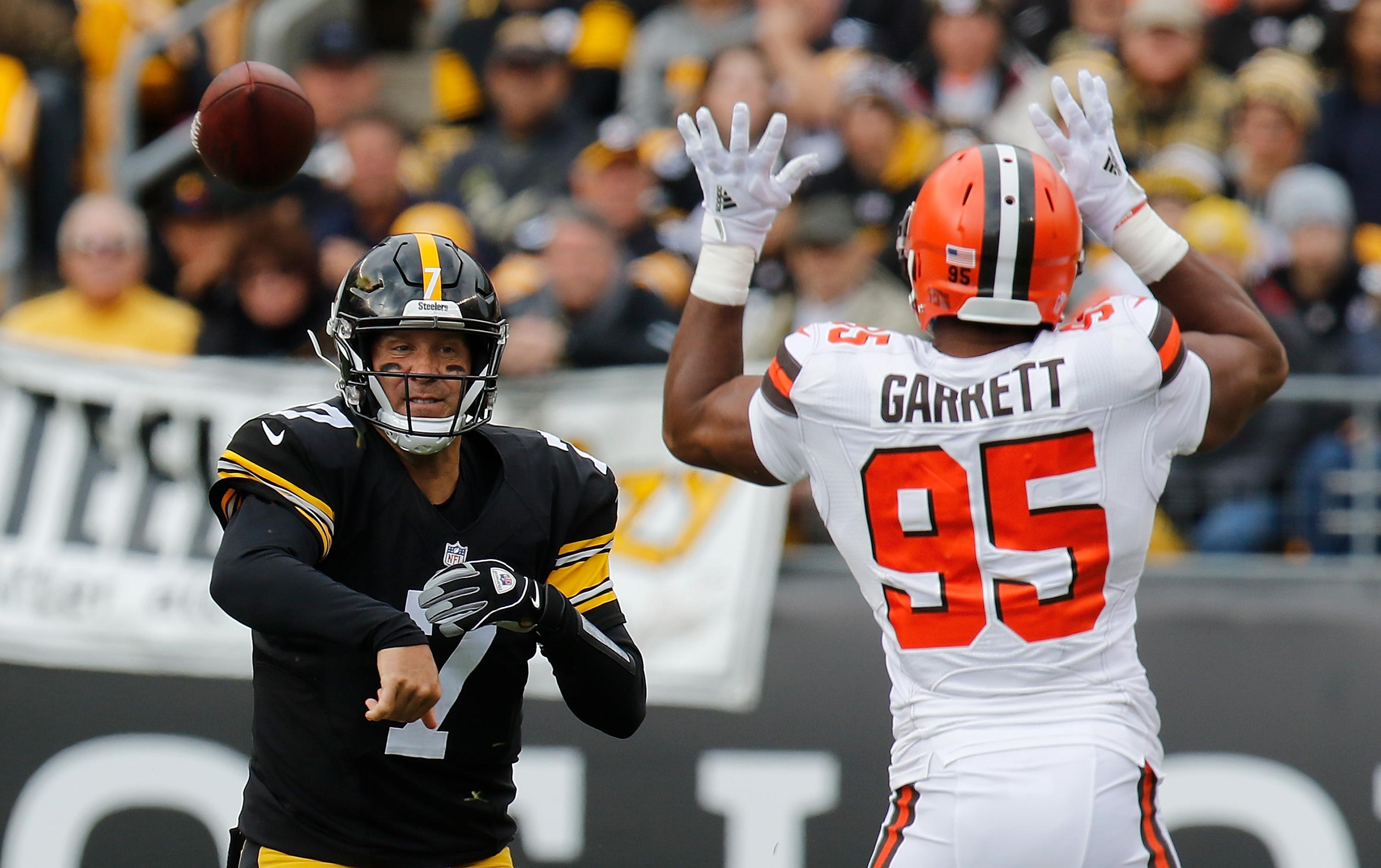 ben roethlisberger myles garrett Steelers Browns