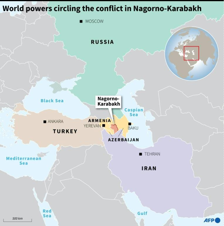 The resurgence of fighting in Nagorno-Karabakh has raised fears it could draw in regional powers Russia and Turkey
