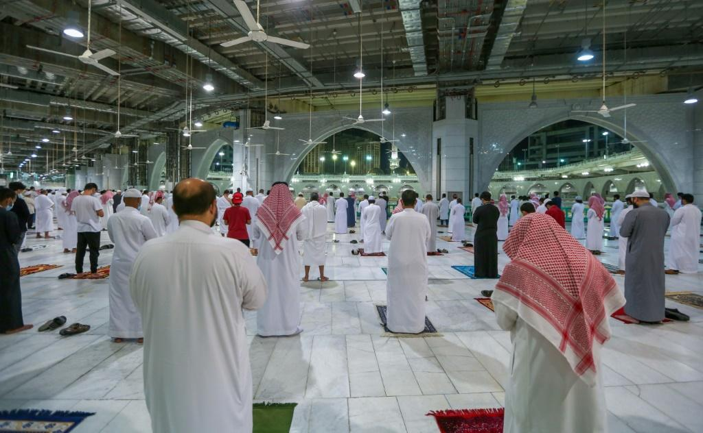 The Grand Mosque in Mecca is the site of the annual hajj pilgrimage but only 10,000 people were allowed to take part this year