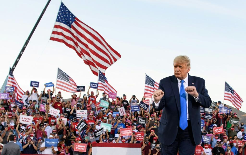 US President Donald Trump was diagnosed with Covid-19 on October 1, 2020 but since being given the all clear by doctors he has maintained a frantic campaign pace across the nation's battleground states