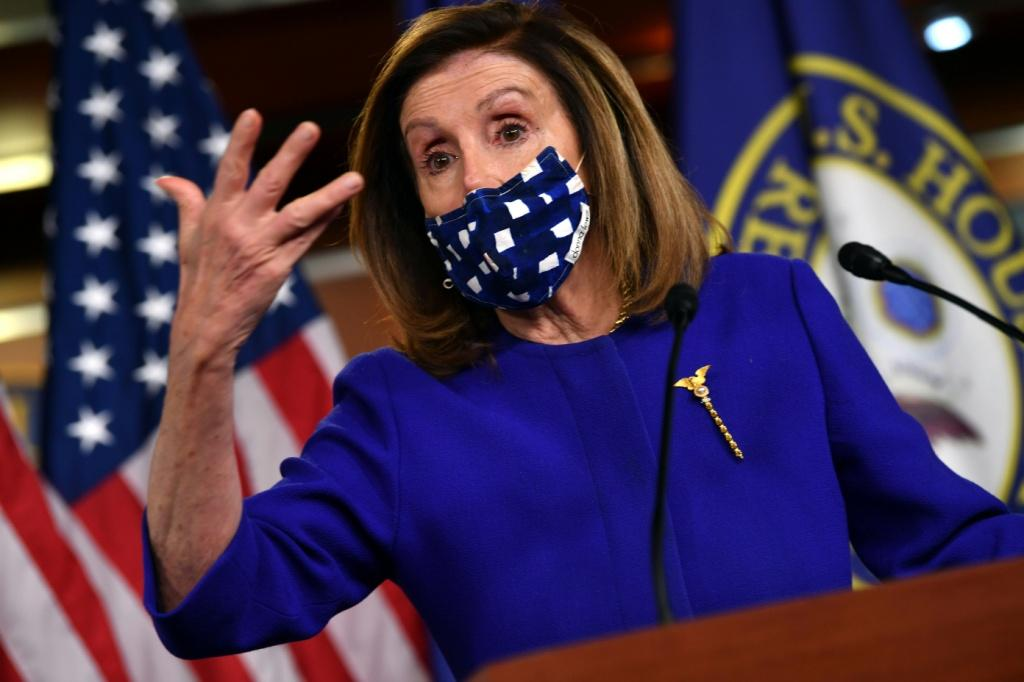 House Speaker Nancy Pelosi (pictured) has negotiated for weeks with Treasury Secretary Steven Mnuchin, but no deal has emerged