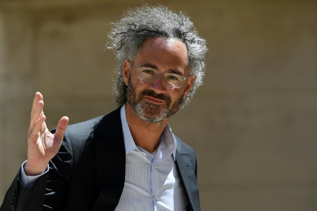 Alex Karp, CEO of Palantir, is seen in a 2019 picture