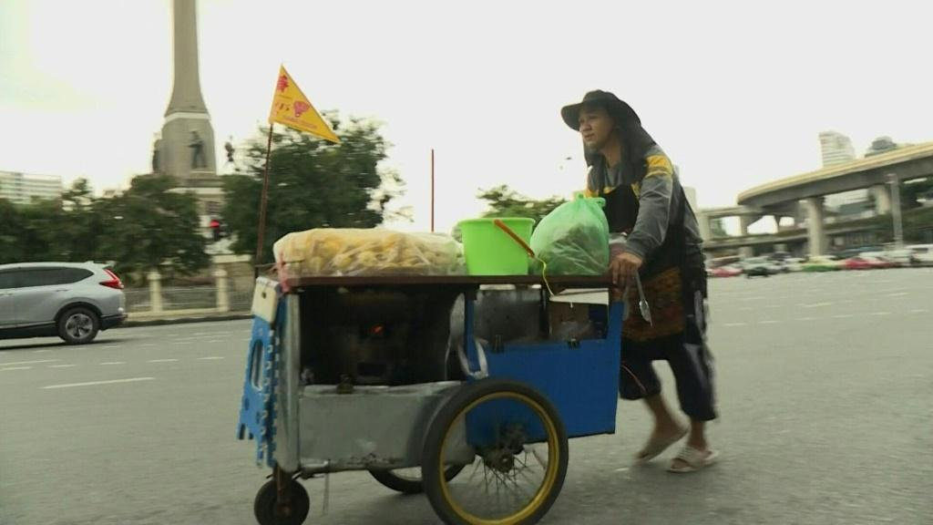 Dubbed 'The CIA', Thai street food have been a regular fixture at the recent outbreak of anti-government protests, with vendors often rushing to protest sites even faster than the protesters.