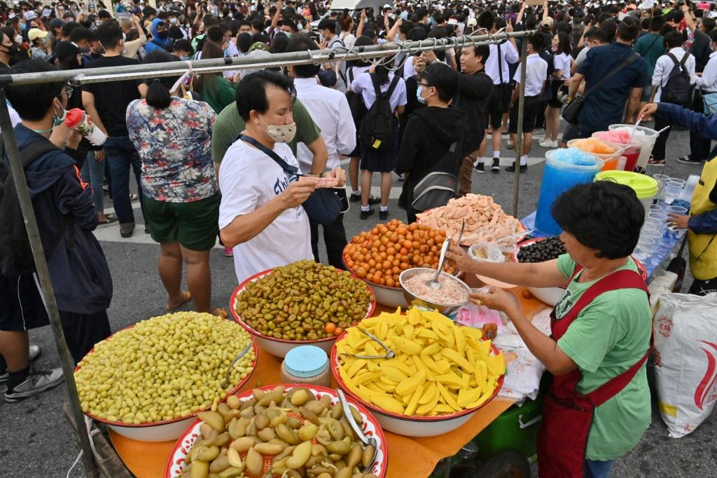Thailand's anti-government gatherings also have a food festival vibe