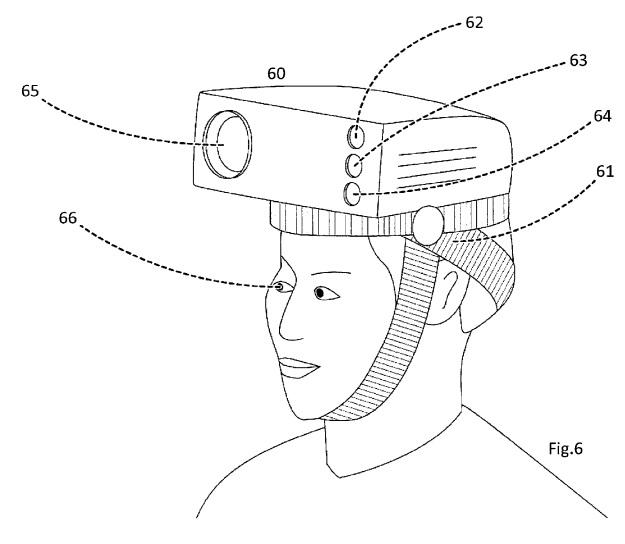 Apple headworn projector