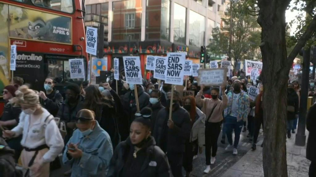 Christian groups held a prayer walk and demonstration in central London on October 25 in support of the protests