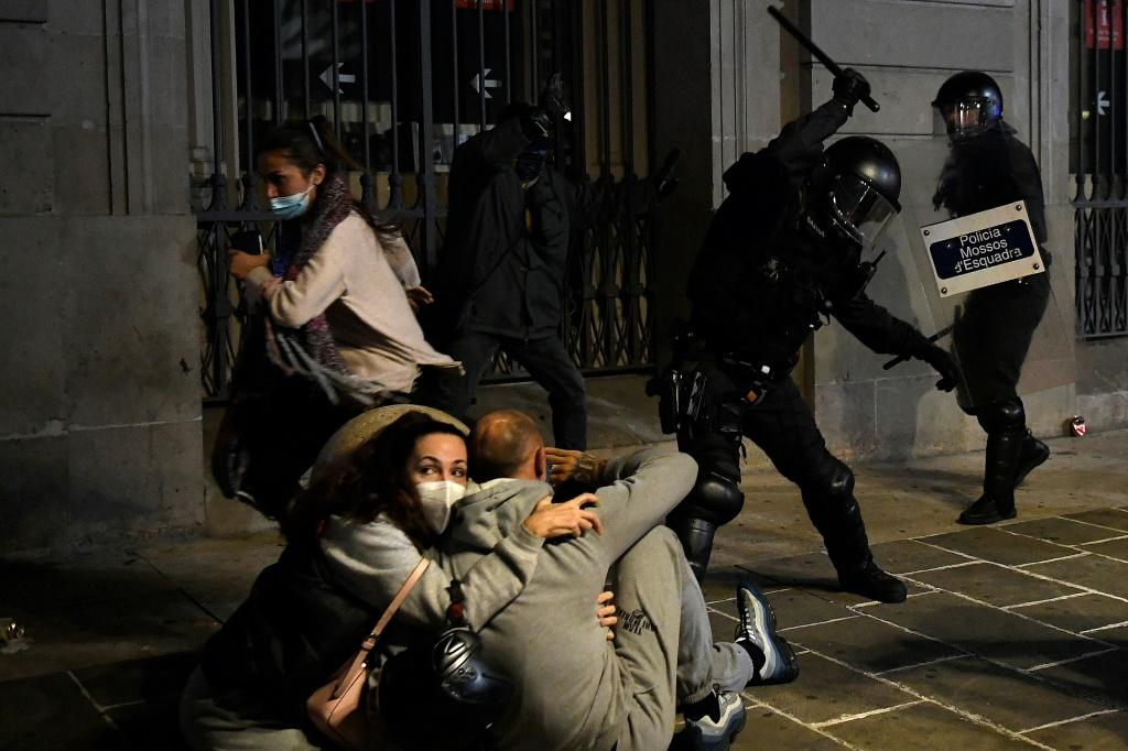 There have been sometimes violent protests against virus restrictions