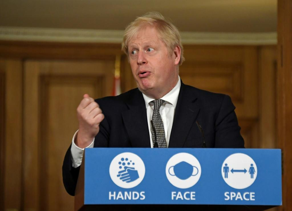 British Prime Minister Boris Johnson announces that England has to go back into coronavirus lockdown as cases surge