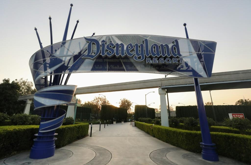 A Disneyland sign is posted at an empty entrance to Disneyland on September 30, 2020 in Anaheim, California