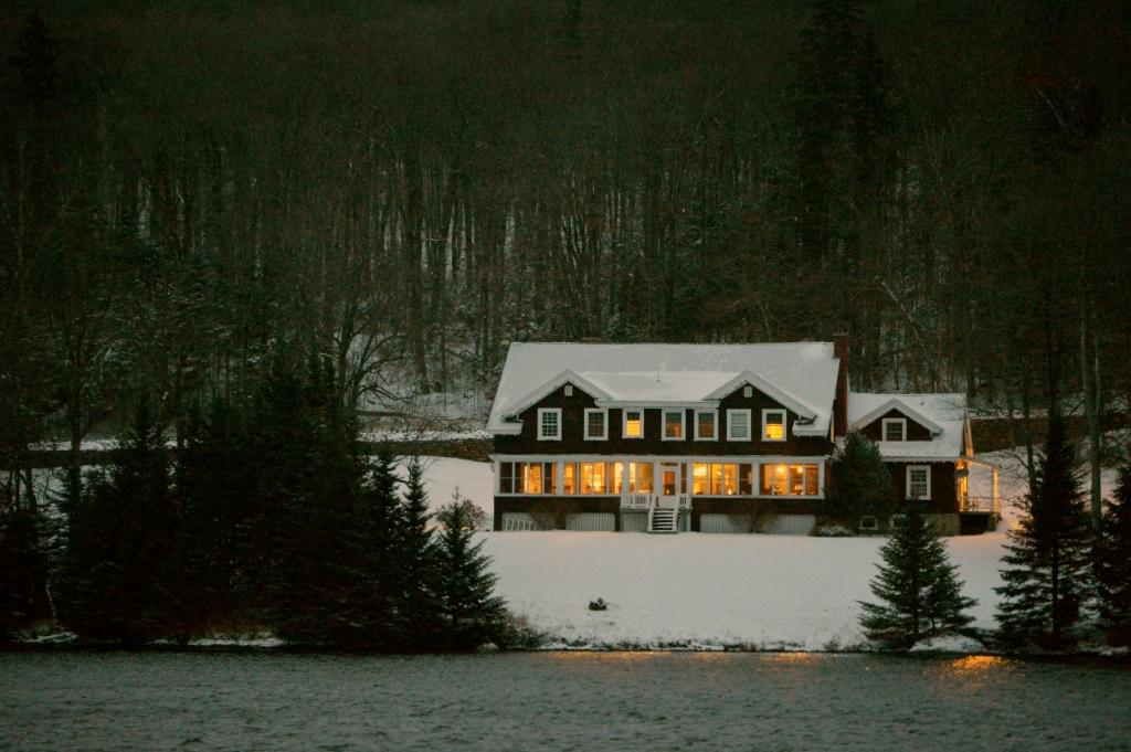 The Hale House at the Balsams resort where midnight voting took place as part of the first ballots cast on US Election Day, in Dixville Notch, New Hampshire on November 2, 2020