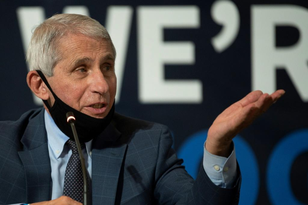 """The idea that we have a 94.5 percent effective vaccine is stunningly impressive,"""" Anthony Fauci, director of the National Institutes of Allergies and Infectious Diseases, which co-developed the vaccine, told AFP"""