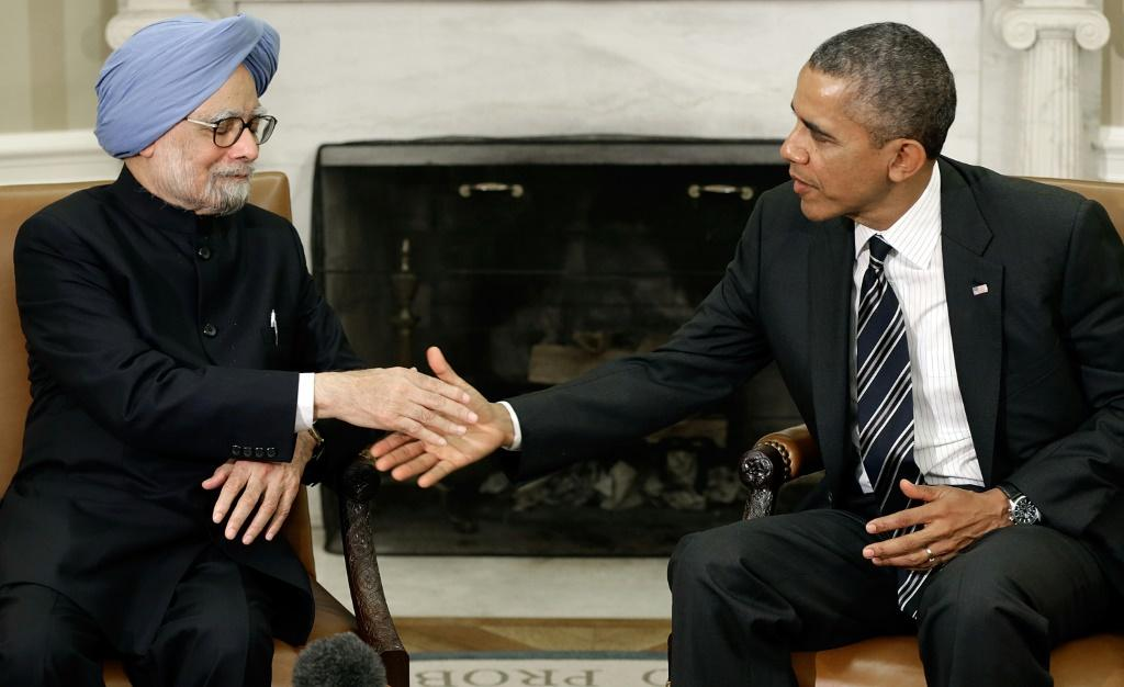 Former president Barack Obama in a new memoir voices deep respect for India's former prime minister Manmohan Singh, seen here in a 2013 White House meeting