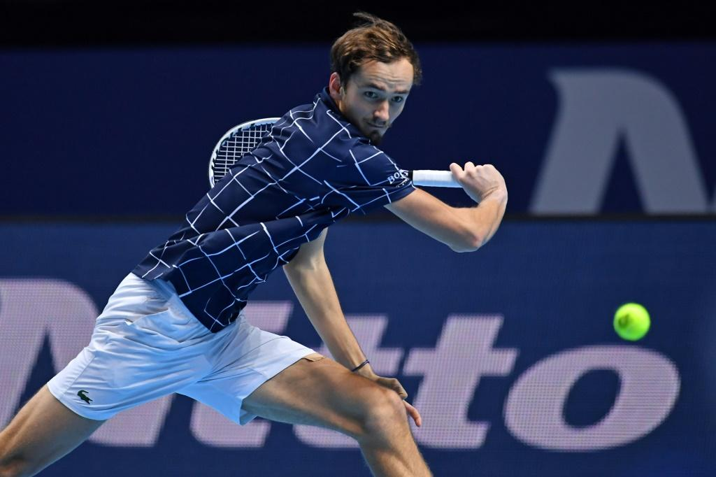 Russia's Daniil Medvedev won all three of his round-robin matches at the 2020 ATP Finals