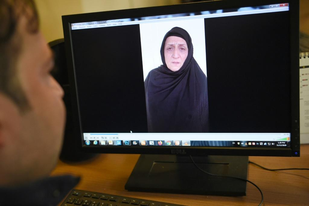 The daughter of Nasreen (pictured) was used as bait