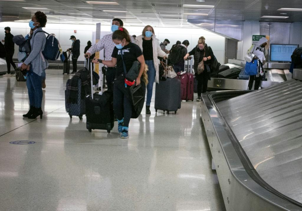 Airport authorities said the weekend before Thanksgiving saw the most fliers since the outbreak of the pandemic in March