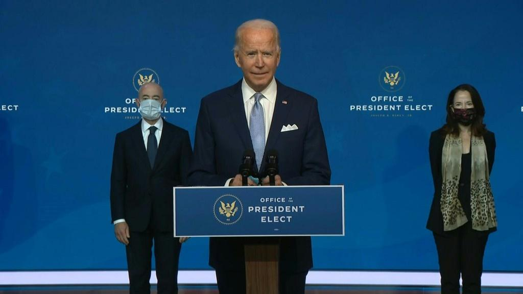 SOUNDBITEUS President-elect Joe Biden introduces a seasoned national security team he says is prepared to resume US leadership of the world after the departure of President Donald Trump.