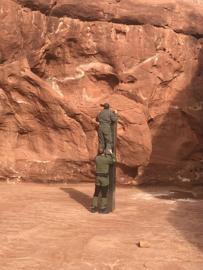 A structure measuring some 10 feet high was found in a remote part of the Utah desert.