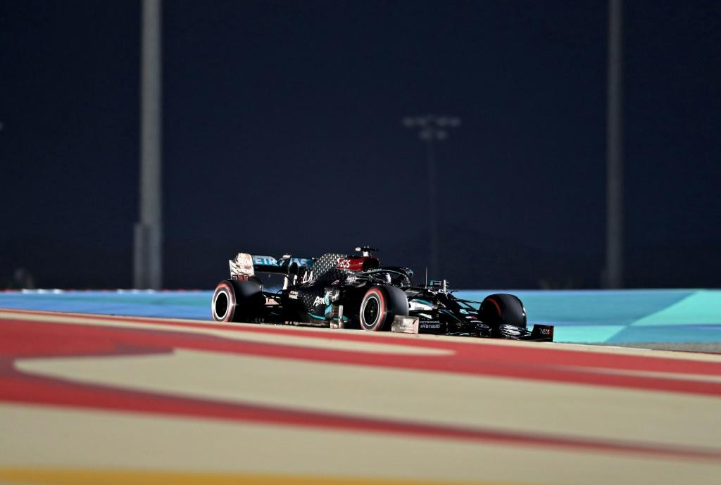 Lewis Hamilton's pole at the Bahrain Formula One Grand Prix was the 98th of his career