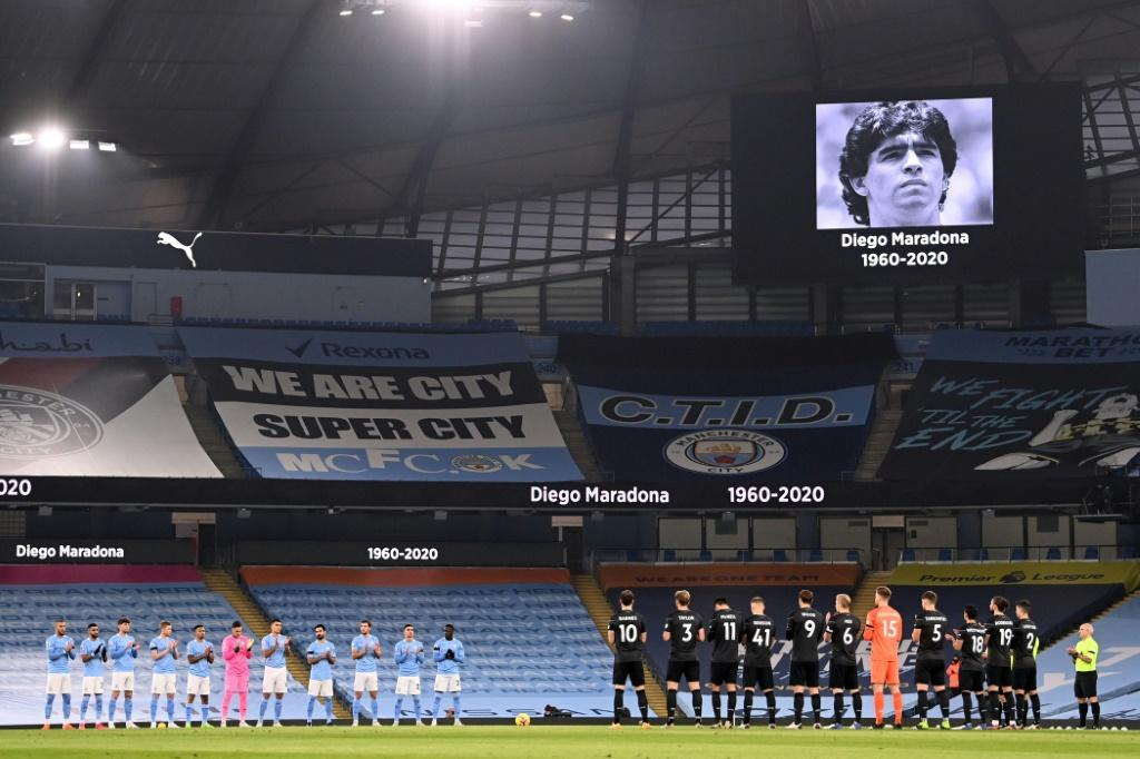 Respects were paid to Diego Maradona before every Premier League match this weekend