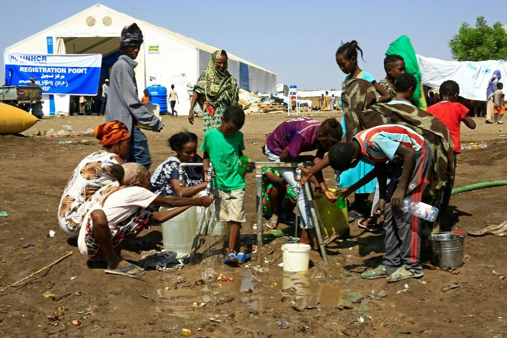 Tens of thousands have poured into neighbouring Sudan