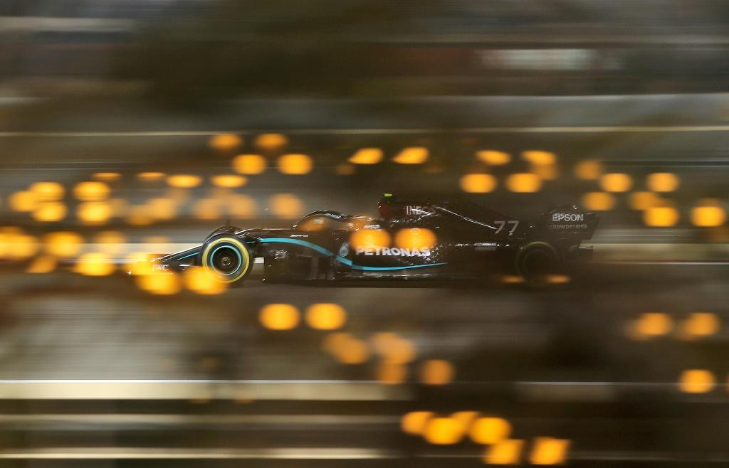 Valtteri Bottas was second fastest n qualifying under the lights in Bahrain as Mercedes locked out the front row for the 11th time this season