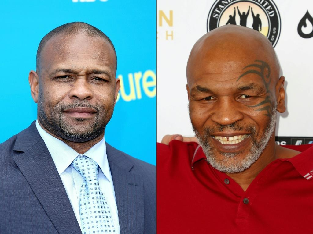California State Athletic Commission officials put in place special safety rules for the exhibition bout between Roy Jones Jr (L) and Mike Tyson