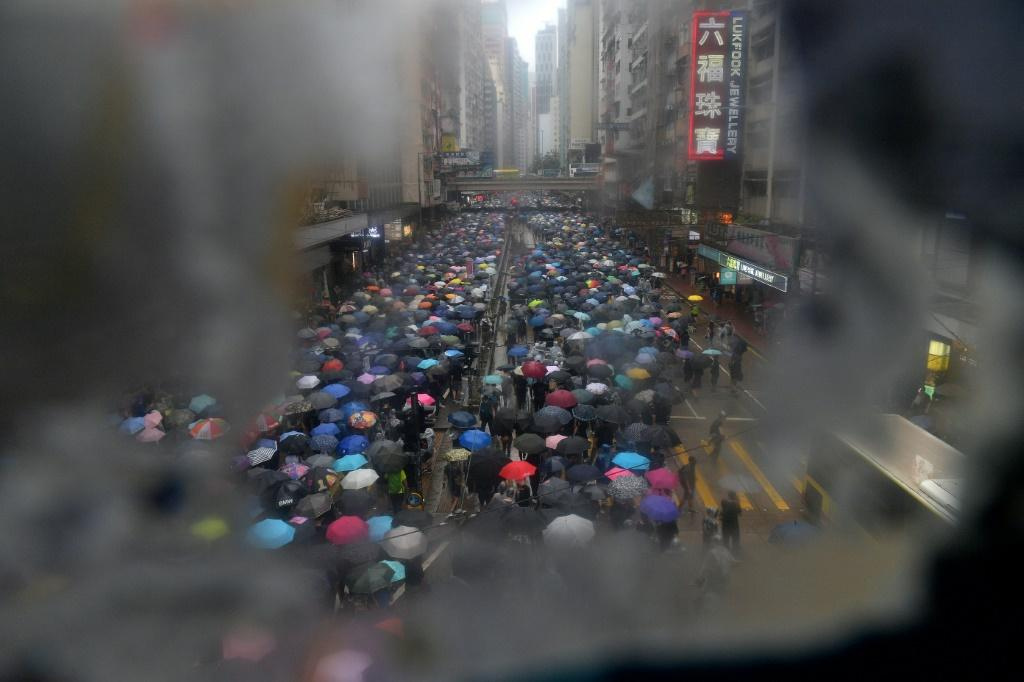 Hong Kong was shaken by months of pro-democracy protests last year
