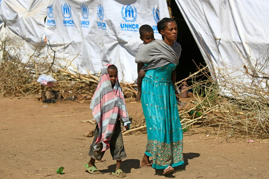 Tens of thousands of Ethiopians have fled to the Um Raquba refugee camp in eastern Sudan