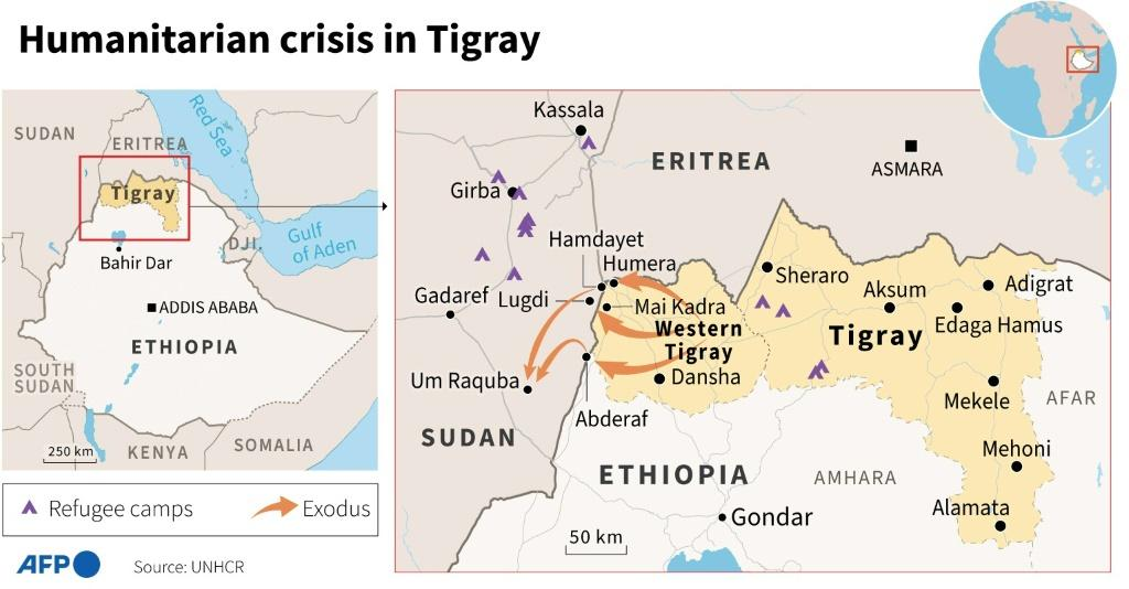 The refugee exodus from Tigray