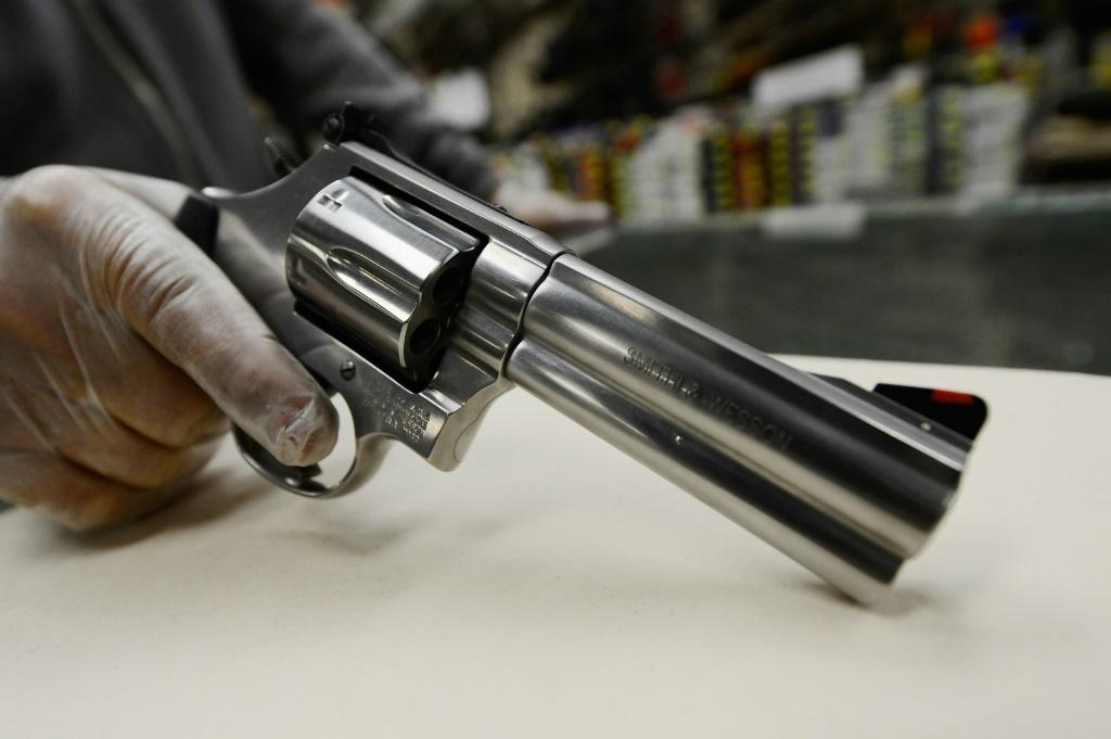 Gunmaker Smith & Wesson reported strong earnings, boosting shares