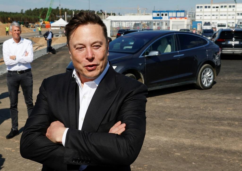 Tesla CEO Elon Musk visited the factory site outside Berlin in September