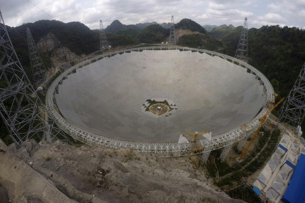 The Five-hundred-meter Aperture Spherical radio Telescope (FAST) in southwestern China's Guizhou province is the only significant instrument of its kind