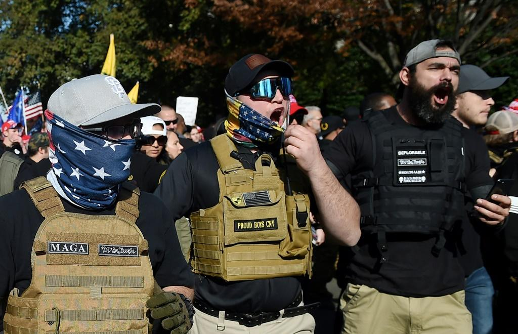 Members of the violent Proud Boys group are expected to attend a last-ditch rally for US President Donald Trump in Washington on January 6