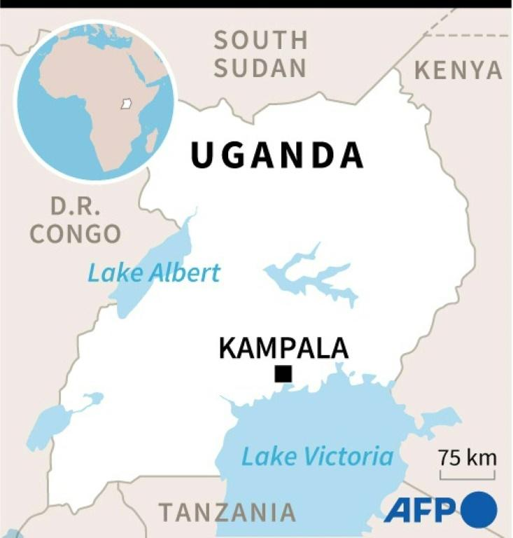 Map of Uganda where presidential elections will be held on January 14