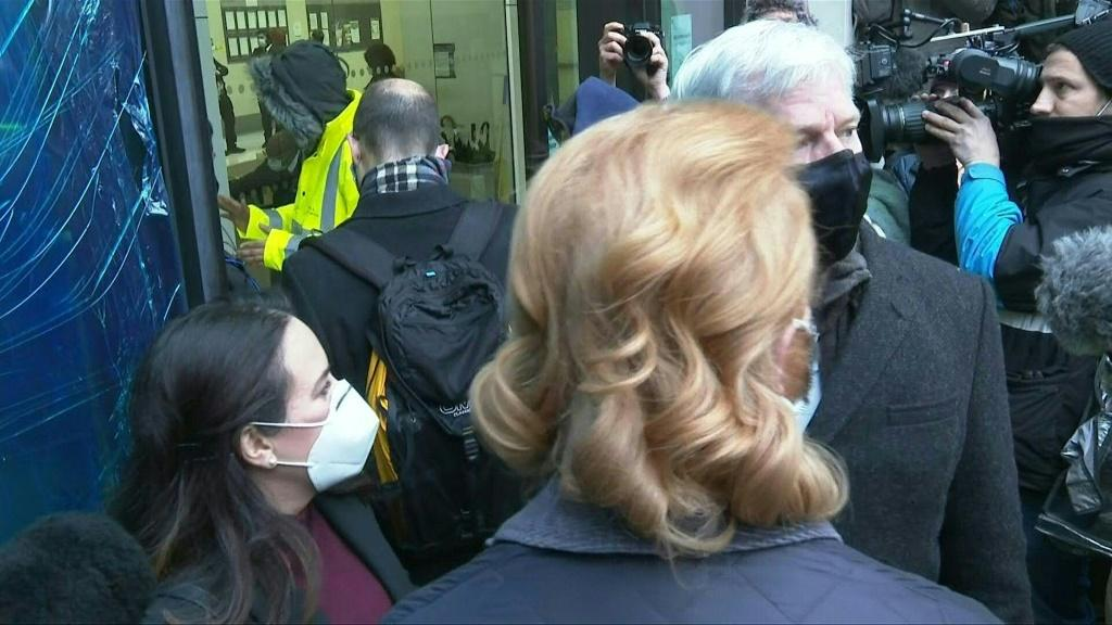 IMAGESJulian Assange's fiancee Stella Moris and WikiLeaks editor-in-chief Kristinn Hrafnsson arrive at Westminster Magistrates' Court, in central London, ahead of the bail hearing in Assange's extradition case. Lawyers for the WikiLeaks founder will argue