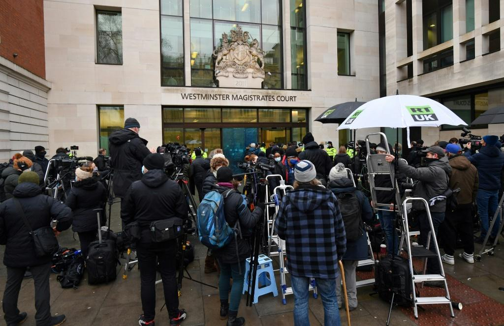 Members of the media and crowds of his supporters gathered outside the court in anticipation of the decision