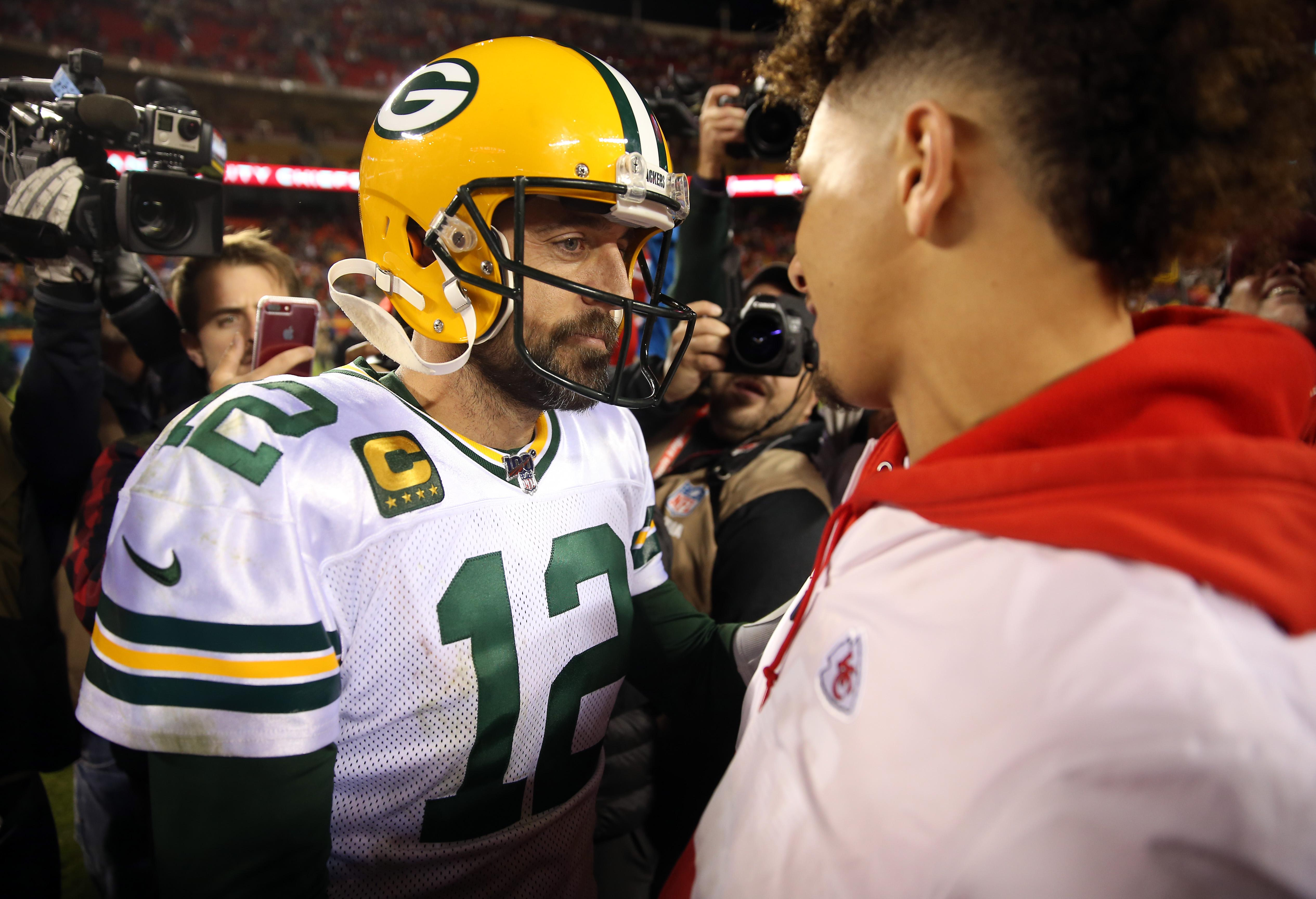 Aaron Rodgers Patrick Mahomes Packers Chiefs