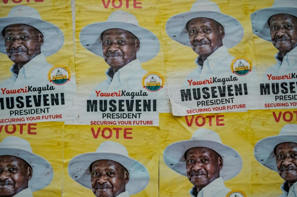 Museveni, 76, is bidding for a sixth term in office