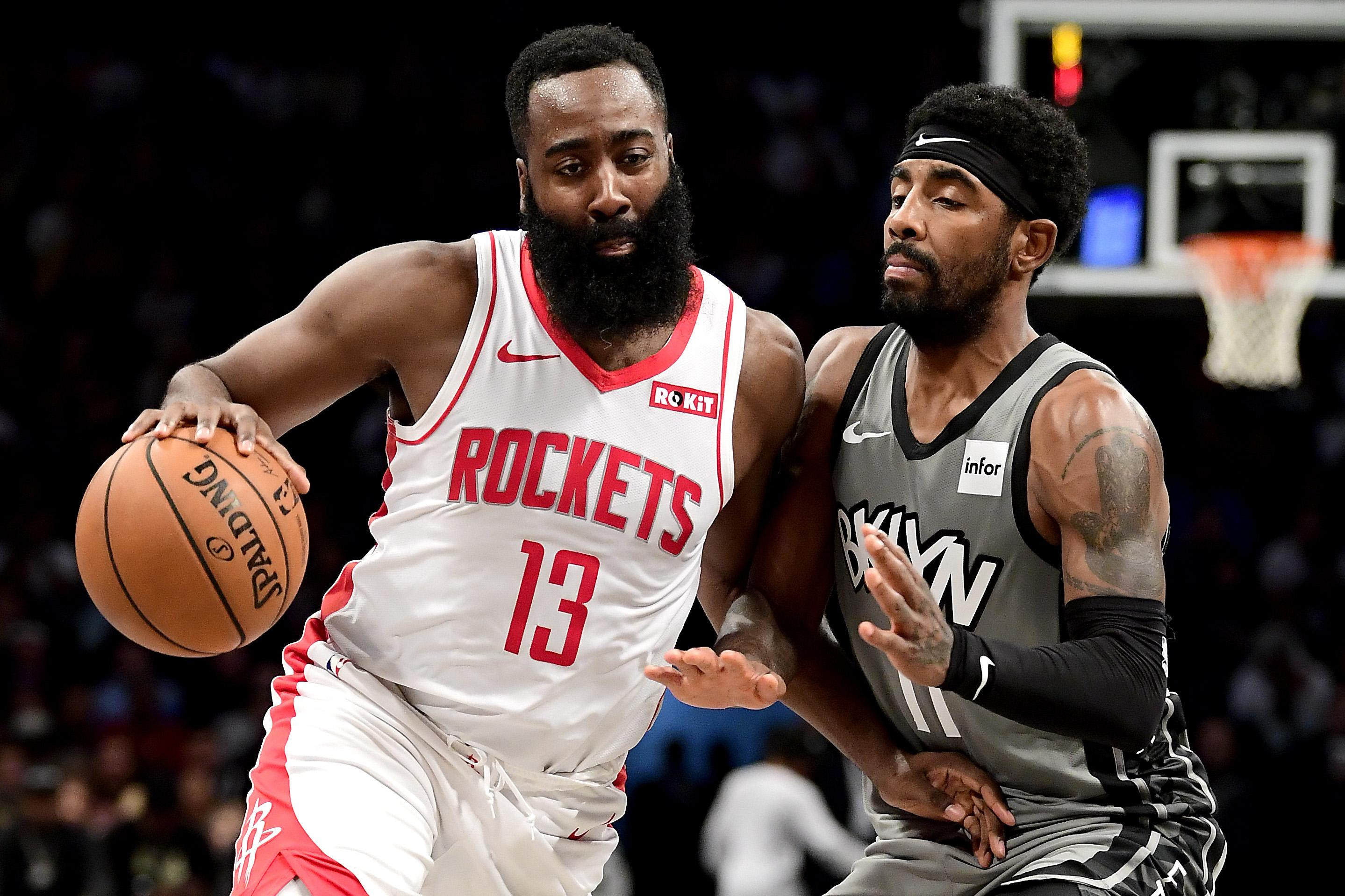 James Harden Kyrie Irving Rockets Nets