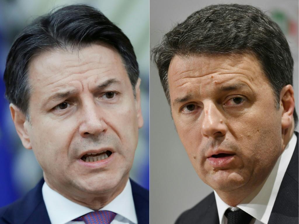 Renzi (right) is widely expected to announce his party is quitting Conte's coalition