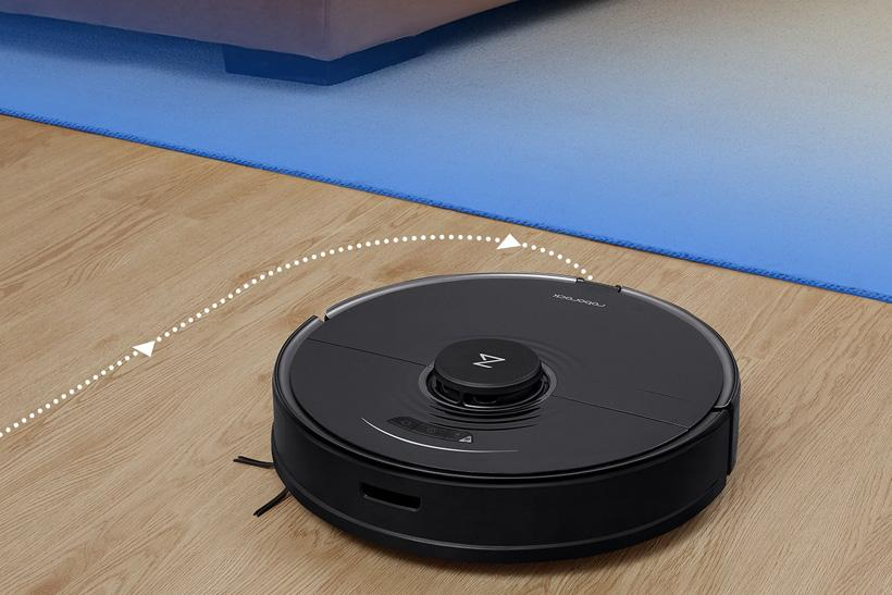 No-go zones can be set on the Roborock app to avoid carpet while mopping