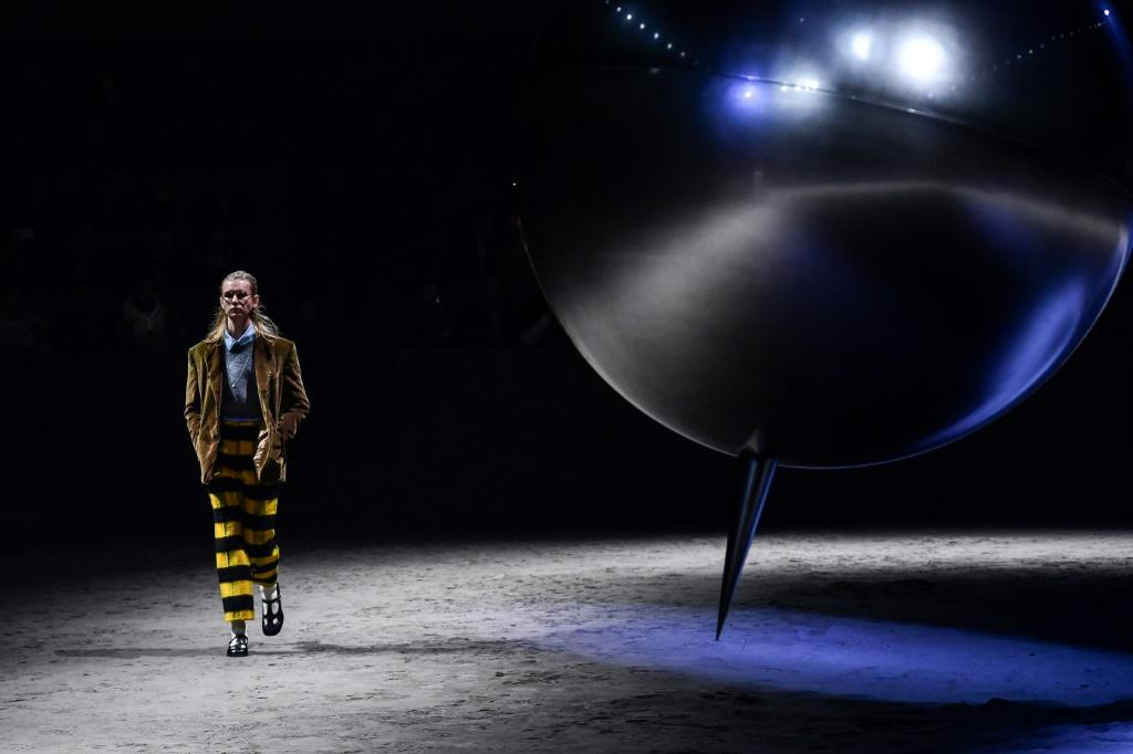 The four-day men's fashion event won't be like last year -- Gucci's show 2020 pictured here -- with infections rising in Italy