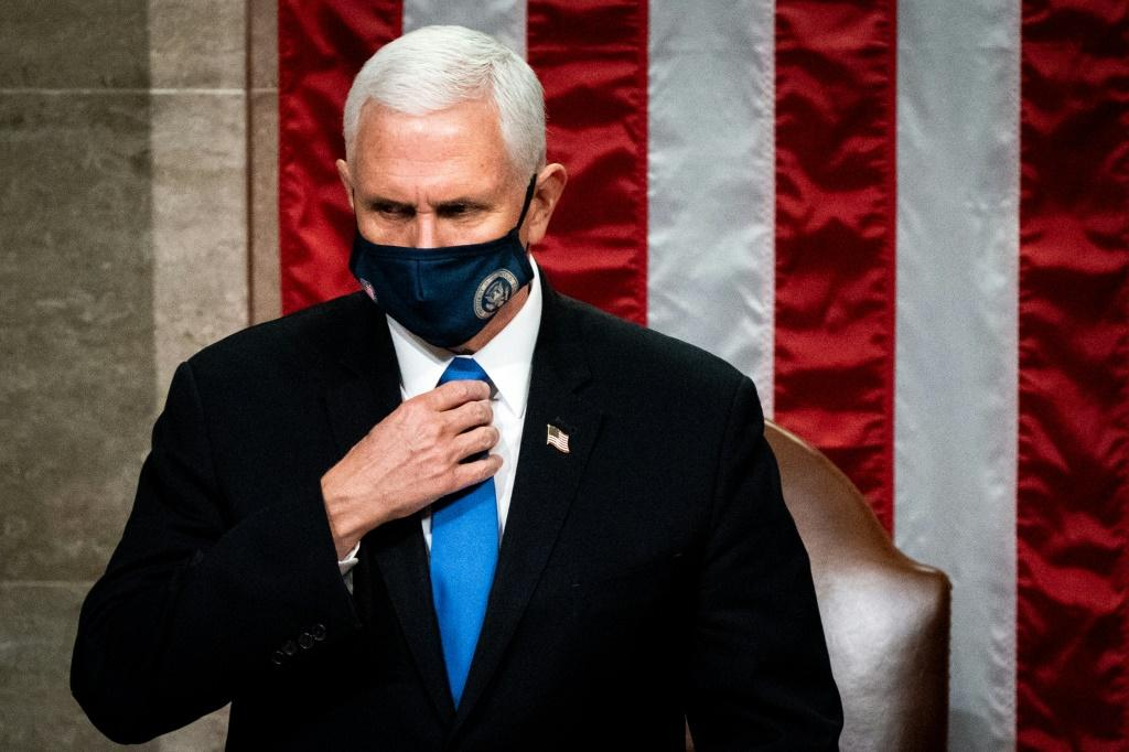 """One rioter left a note for Pence at the dais in the Senate Chamber which read: """"it's only a matter of time, justice is coming."""