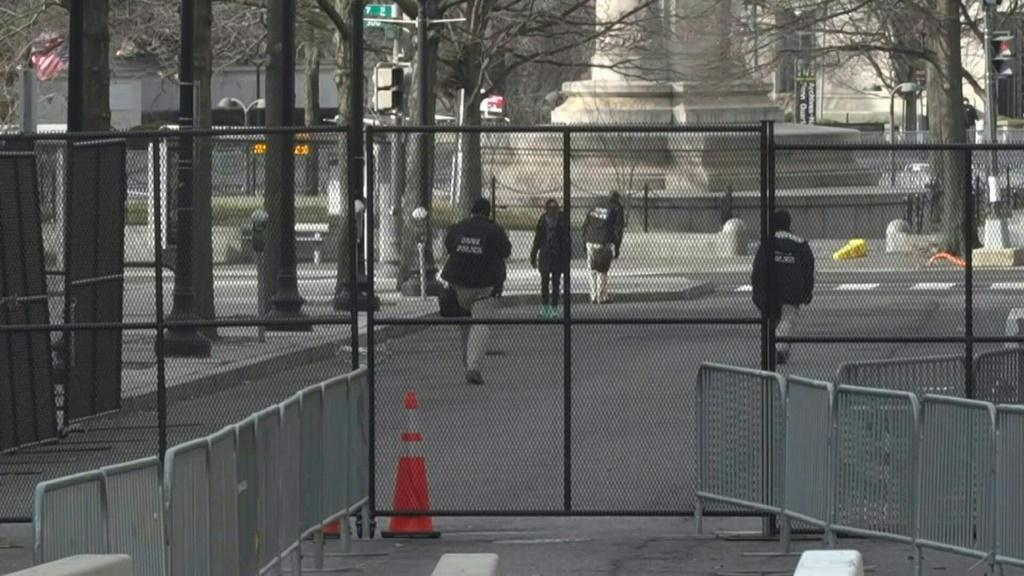 Concrete barriers, fences, and checkpoints: Security tightens in downtown Washington, DC, a day ahead of potential pro-Trump demonstrations. Since the deadly assault on the US Capitol last week, thousands of National Guard troops have been deployed in the