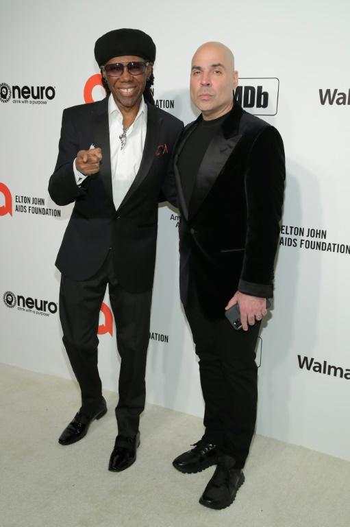 Nile Rodgers and Merck Mercuriadis, the founder of the music fund Hipgnosis, shown here in in February 2020